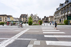 Central square in Troyes, France Stock Photography