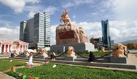 Central square of Ulaanbaatar Royalty Free Stock Photography