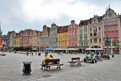 The central square in Wroclaw Stock Photo