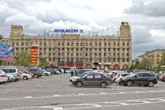 Central squares of the city is used as a Parking Royalty Free Stock Photo