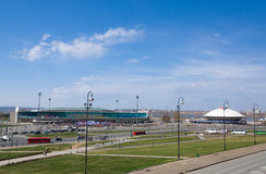 Central Stadium and Kazan State Circus in Kazan, Russia. Royalty Free Stock Photography