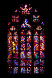 Central stained glass church of St. Vitus in the Czech Republic Stock Photo