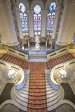 Central staircase of the Peace Palace Royalty Free Stock Images