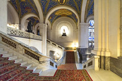 Central staircase of the Peace Palace Royalty Free Stock Image