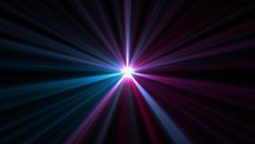 Central star shine optical lens flares shiny bokeh illustration art background new natural lighting lamp rays effect. Colorful bright image royalty free illustration