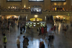 Central station. Grand central station main lobby, taken witha long exposure time royalty free stock photos
