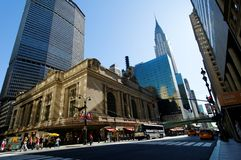 Central Station. Grand Central Railway Station in New York. Designed in Beaux Arts architectural style Stock Photos