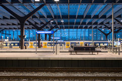 Central station. Rotterdam central station, train, central station royalty free stock photos