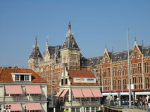 Central station in Amsterdam. Central station facade in Amsterdam, The Netherlands Royalty Free Stock Photography