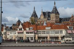 Central station of Amsterdam, NE royalty free stock image