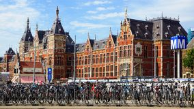 Central Station in Amsterdam. Netherlands Royalty Free Stock Photo