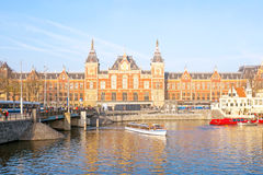 Central Station in Amsterdam Netherlands Royalty Free Stock Photography