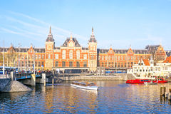 Central Station in Amsterdam Netherlands Stock Image