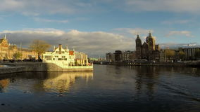 Central Station in Amsterdam the Netherlands stock video footage