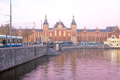Central Station in Amsterdam the Netherlands Stock Photo