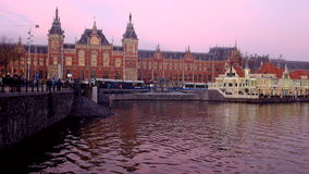 Central Station in Amsterdam the Netherlands stock footage