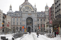 Central station in Antwerp Stock Images
