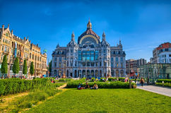Central station of Antwerp, Belgium, Benelux, HDR Stock Photos