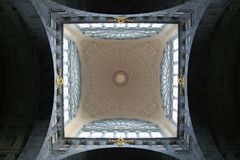 Central Station at Antwerp, Station dome Royalty Free Stock Images