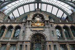 Central Station at Antwerp, Station interior Royalty Free Stock Image