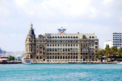 Central station building. Haydarpasa central station building. Istanbul - Turkey Stock Image