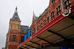 The Central Station building - Amsterdam, Netherlands Stock Images