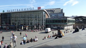 Central station in Cologne. Germany. Central station in Cologne. Summer 2015 stock illustration