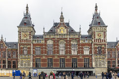Central Station on February 07, 2015 in Amsterdam. Central Stati Stock Images