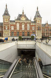 Central Station on February 07, 2015 in Amsterdam. Stock Image