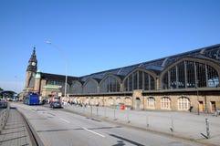 Central station Hamburg. Clock tower of Hamburg mail railway station Royalty Free Stock Image