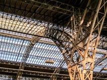 Central Station Hauptbahnhof, Leipzig. Iron Arches of the Central Station Hauptbahnhof, Leipzig Stock Photo