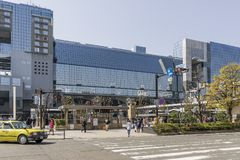 The central station of Kyoto, Japan, on a beautiful sunny day stock photos