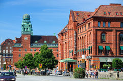 Central Station of Malmö, Sweden. The central train station of Malmö, a city in the southo of Sweden Stock Photo