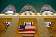 Central station NY, US flag Stock Images