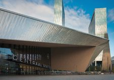 Central station of rotterdam Stock Photo