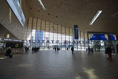 Central Station Rotterdam stock photo