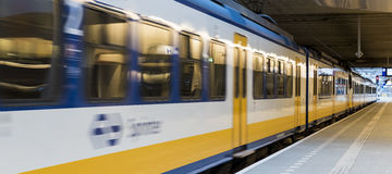 Central Station Utrecht, Sprinter Train Stock Image