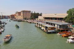 The central station of Venice, Italy. Royalty Free Stock Photo