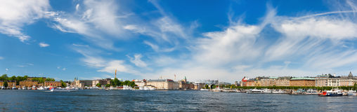 Central Stockholm panorama Royalty Free Stock Image