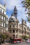 Central stolpe - kontor av Valencia, Spanien Arkivbild