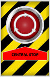 Central stop button Stock Photos