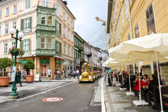 Central street in Bad Ischl, Austria Stock Images