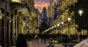 The central street in Baku stock photography