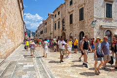 Central street of the Dubrovnik old town, Croatia. Stock Image