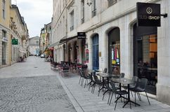 Central street in the French city Royalty Free Stock Photos