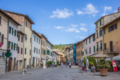 Central street in Gaiole in Chianti Royalty Free Stock Photos