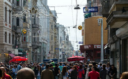 Central street of Istanbul Taksim Istiklal Street Royalty Free Stock Image