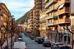 Central street of Jijona/Xixona town Royalty Free Stock Image