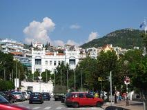 Central street of Kavala. Greece, Kavala - Sertember 10, 2014 stock photo