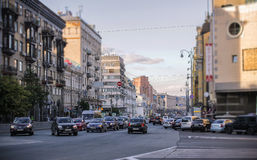 The Central street of Kiev, Khreschatyk Royalty Free Stock Image